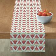 Table Runner Picnic Summer July 4th Watermelon Gingham Ants Food Cotton Sateen