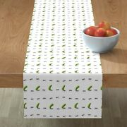 Table Runner Ant Ants Pickles Pickled Cucumbers Jars Picnic Cotton Sateen