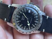 Vintage 1960and039s Glycine Airman Vietnam War 36mm Stainless Steel Hacking Automatic
