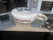 Raymarine E80 Chartplotter Rn300 With Dome Cable 40and039 Uncut And Manuals