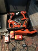 Black And Decker Combination Tool Set 318v Batteries 4 Chargers Drills Saw More