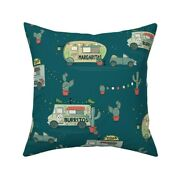 Taco Burrito Margarita Mexican Throw Pillow Cover W Optional Insert By Roostery