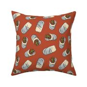 Burrito Tex-mex Large Burrito Throw Pillow Cover W Optional Insert By Roostery