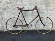 1896 New York Bicycle Antique Toc Skiptooth Wood Rim Early Bike Rare Orig Cond