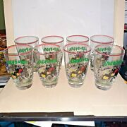 8 Vintage Libbey Cadillac 1904 Collectible Glasses
