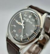 Bell And Ross Vintage Military Automatic Black Dial Menand039s Watch Brv192-mil-st/sca