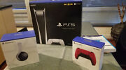 Ps5 Digital Edition Bundle - Console Cosmic Red Controller And 3d Pulse Headset