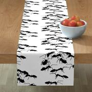 Table Runner Ants Insects Bugs Creepy Crawly Critters Picnic Cotton Sateen