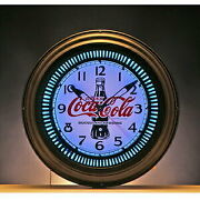 Products Cocacola Brand Neon Clock Bottle Interior Clock Fashionable Table Clo