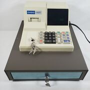 Sharp Xe A110 Electronic Cash Register With Keys As Is For Parts Repair Turns On