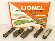 Lionel 6-1805 Rare Postwar Land-sea And Air Gift Pack Military Set-ex. In Ob