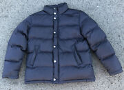 Authentic Brooks Brothers 346 Menand039s Downs Button Jacket Coat Size Large Navy