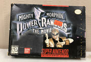 Mighty Morphin Power Rangers The Movie Super Nintendo Snes Game With Box