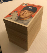 1954 Topps Baseball Cards Lot 152 Different 152/250 61 Complete X5 Hofers