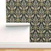 Peel-and-stick Removable Wallpaper Art Nouveau Large Dark Honey Bee Flower Brown