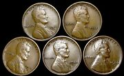 1911-d 1915 1915-d 1922-d 1926-s Lincoln Cent Penny ---- Nice Us Coin ---- W366