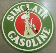 Porcelain Sinclair Gasoline Enamel Sign Size 30 Inches Double Sided