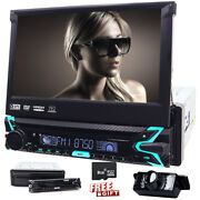 Single 1 Din Car Stereo Bluetooth 7 Touch Screen Gps Dvd Cd Player Camera Aux