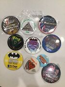 Super Rare Lot Of 10 Six Flags Great Adventure Buttons