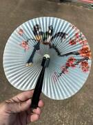 Vintage Shanghai Arts And Crafts Paper Chinese Folding Fan