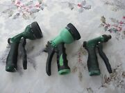 3 Vintage Water Nozzles Garden Hose Sprayers 9 Settings 6 Settings 1 Setting Wow