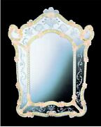 Mirror Glass Of Murano Classic With Gold Proof Handmade In Italy