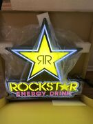 Rockstar Energy Drink Led Large Light Up Hanging Sign 30x28 Brand New In Box