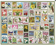 White Mountain 1000 Pieces Jigsaw Puzzle - State Flower Stamps
