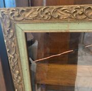 Antique Wooden Ornate Painting Frame Under Glass 24.25 X 16.25 21 X 13