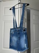 Colombian's Gio's Jean Skirt W / Overall Buttons Size 7