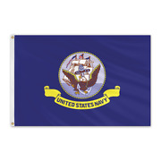 Global Flags Unlimited 203924 Us Navy Outdoor Nylon Flag 6'x10'