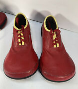 Vintage Red Leather Clown Shoes Size 5