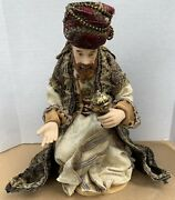 Member's Mark 2007 Christmas Nativity Replacement 9 Kneeling Wise Man Fabric