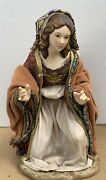 """Member's Mark 2007 Christmas Nativity Replacement 7.5"""" Mary Porcelain And Fabric"""
