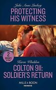 Protecting His Witness / Colton 911 Soldier's Return, Like New Used, Free Sh...