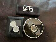 Zerofeud Small Titanium Fidget Spinner W/ Extra Damasteel Caps And Pouch