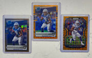 Jonathan Taylor Donruss Orange Scope Rated Rookie /79 And Bronze And Prizm Lazer Lot
