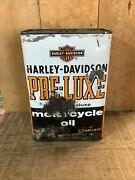 Rare Vintage And039and039harley-davidsonand039and039 Pre-luxe Rectangle Motorcycle Gallon Oil Can