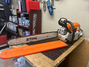 Stihl Ms391 Gas Chainsaw With 25 Bar And Chain 64cc Free Shipping