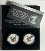 2021 Reverse Proof American Silver Eagle One Ounce Two Coin Set Designer Edition