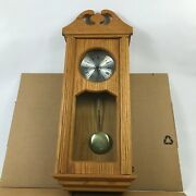 Wall Hanging Grandfather Style Wooden Clock