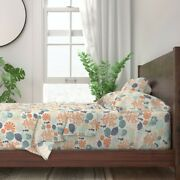 Sea Colorful Beach Shells Coral 100 Cotton Sateen Sheet Set By Spoonflower