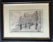 Reduced Original World War Ii Art Military Soldier Re D-day Invasion Normandy