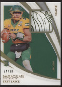 2021 Panini Immaculate Trey Lance Gloves Logo Patch Rc Rookie /80