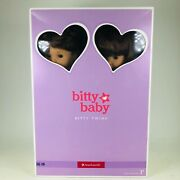 Rare American Girl Bitty Baby Twins Boy And Girl Brown Hair And Eyes 2b 2g Retired