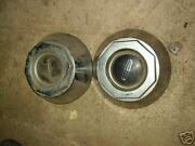 2 Lincoln Heavy Cast Metal 7andrdquo Center Hubcaps