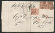 Great Britain 1867 Franked Folded Letter Liverpool-ny