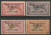 French Colonies/s Yria 1922 Yv Airmail 10-13 Mlh Vf