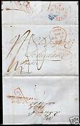 Great Britain 1837 Folded Letter Leith To Schiedam Etc