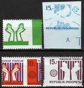 Indonesia 1970 Zbl 675-676 4 Attractive Misprints Mnh